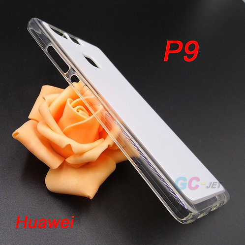 Huawei P9 soft transparent edge phone case with white coating