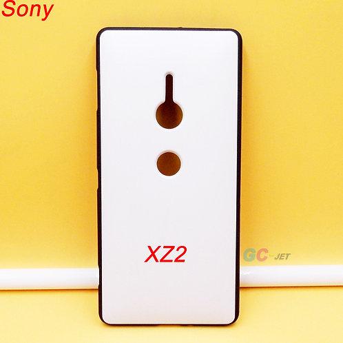 Sony XZ2 blank printable mobile case black soft tpu with white coating
