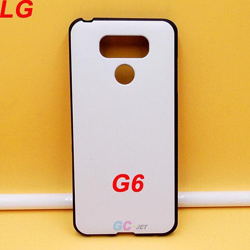 LG G6 soft tpu phone case black side white printable back