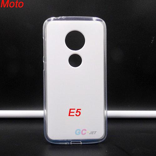 Moto E5 transparent tpu soft phone case for custom printing picture