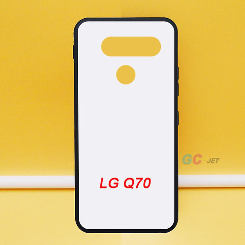LG Q70 flexible phone case with white printable back