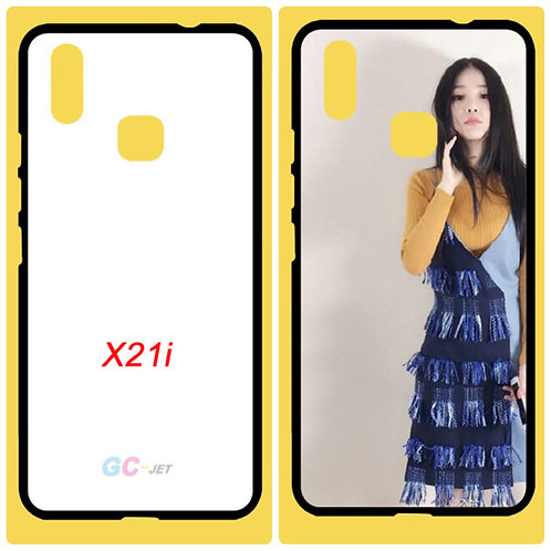 vivo X21i tpu soft mobile case with white printable coated back