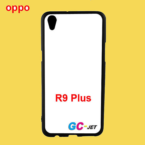 OPPO R9 Plus printable black side tpu soft phone case with white back