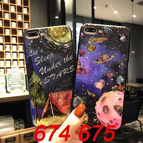 iPhone flash pattern tpu case 674 675