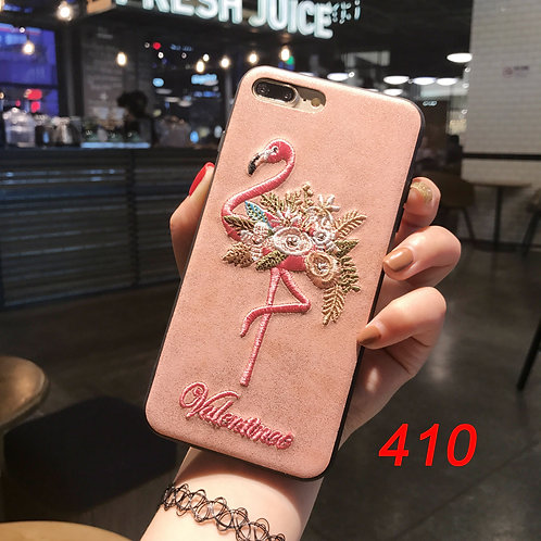 Embroidered pattern iPhone tpu soft case 410