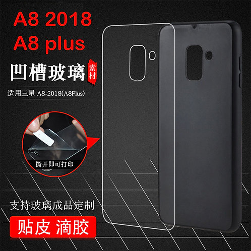 Printable tempered glass mobile case for Galaxy A8 2018  / A8 plus