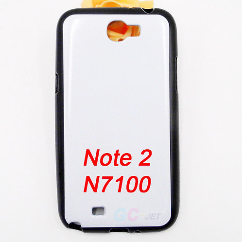 Galaxy Note 2 tpu black cover case for custom printing