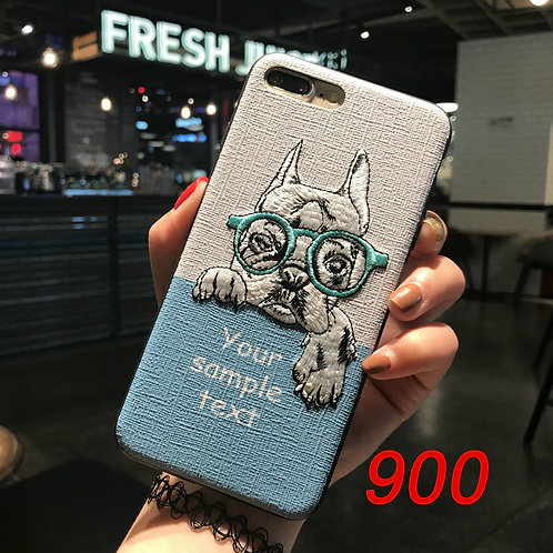 iPhone 6/78/X tpu case with embroidered pattern 900 901 902