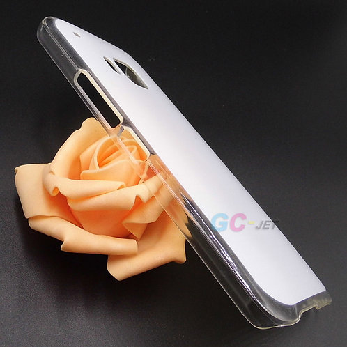 HTC M9 transparent edge cell phone case with white coating primer for printing