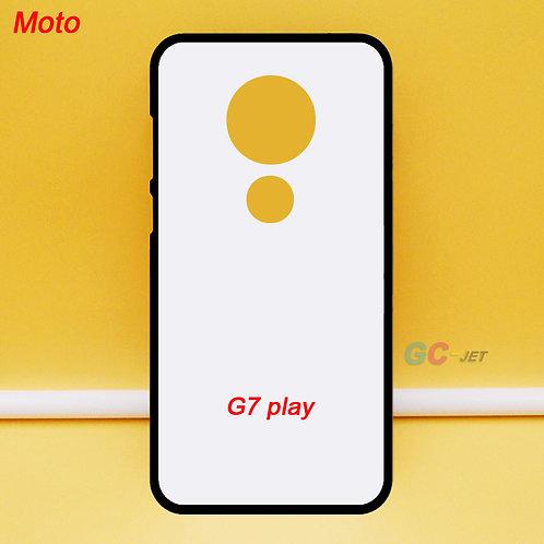 Moto G7 play blank printable tpu soft mobile phone case ,black side white back