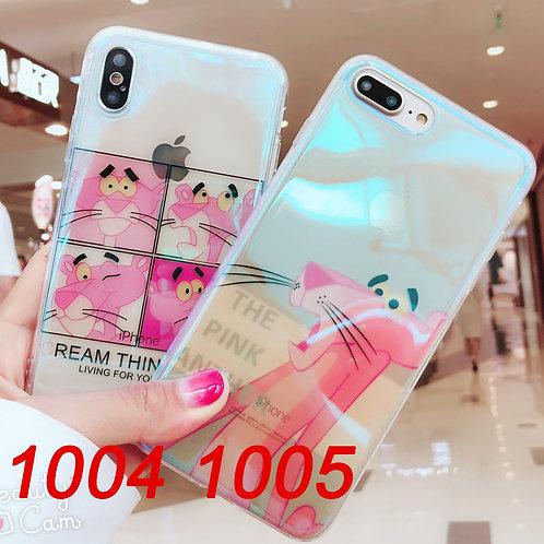 iPhone 6/7/X tpu soft case with laser cartoon pattern 1004 1005