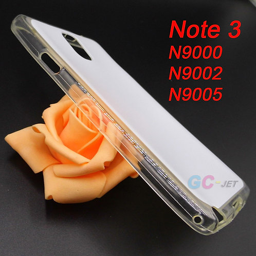 Samsung Note 3 transparent edge tpu silicone phone case for printing
