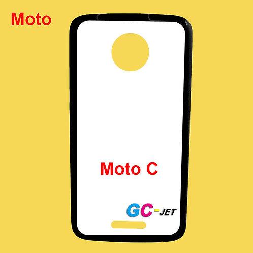 Moto C black edge and white printable back tpu soft phone case