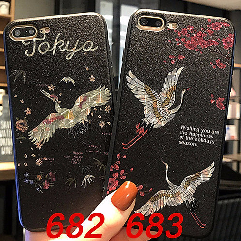 iPhone flash pattern tpu case 682 683