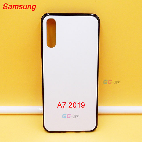 Samsung galaxy A7 2019 soft tpu cell phone case with white back