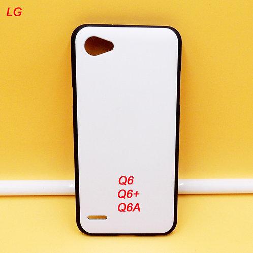 LG Q6 / Q6+ / Q6A printable phone case soft tpu with white coating back
