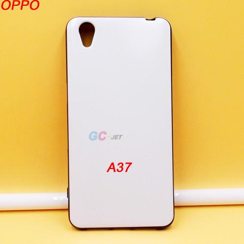 OPPO A37 black side white back tpu phone case printable blanks