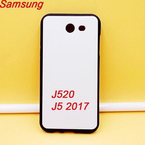Samsung Galaxy J520 J5 2017 black edge and white printable back tpu soft phone c