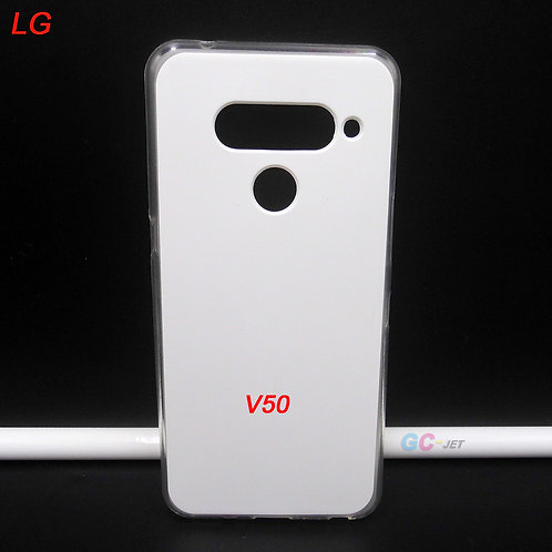 LG V50 printable soft tpu phone case blank with white coated back