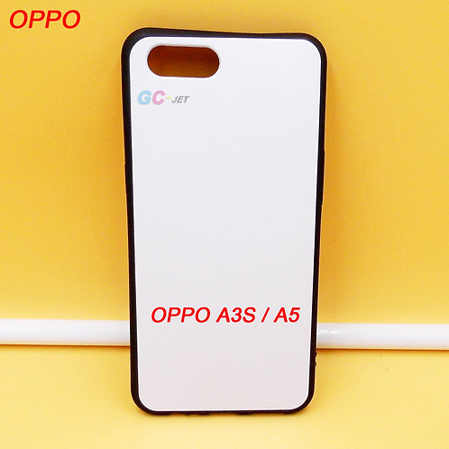 OPPO A3S / A5 printable rubber blank phone case for printing machines