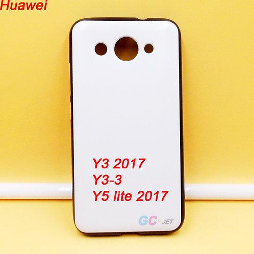 Huawei Y3 2017 / Y3-3 / Y5 LITE 2017 black side printable cell phone cover case