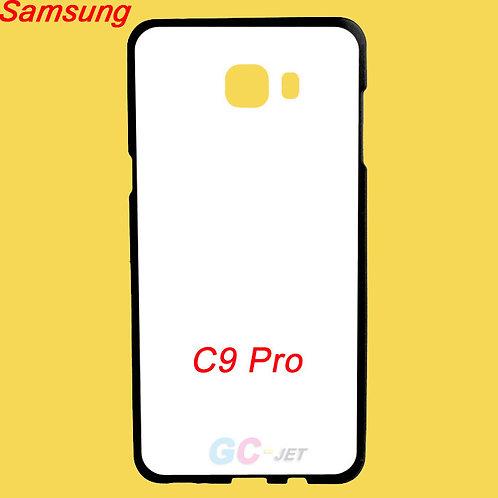 Galaxy C9 Pro black edge and white printable back tpu phone case