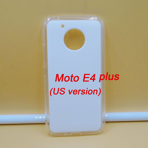 Moto E4 plus transparent tpu soft phone case printable blank