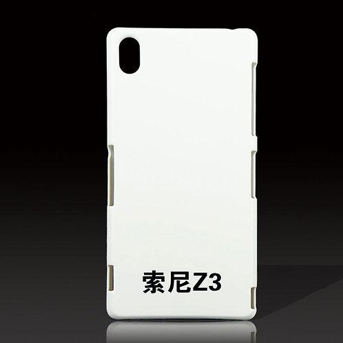 Sony Z3 blank white cover case for photo heat transfer