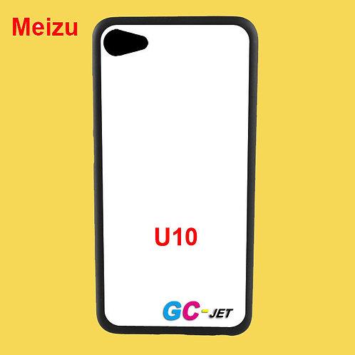 Meizu U10 black tpu soft phone case blank printable with white coating
