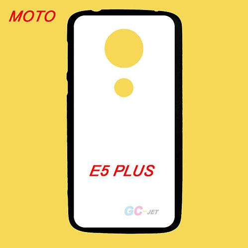 MOTO E5 PLUS black tpu phone cover printable with white coating