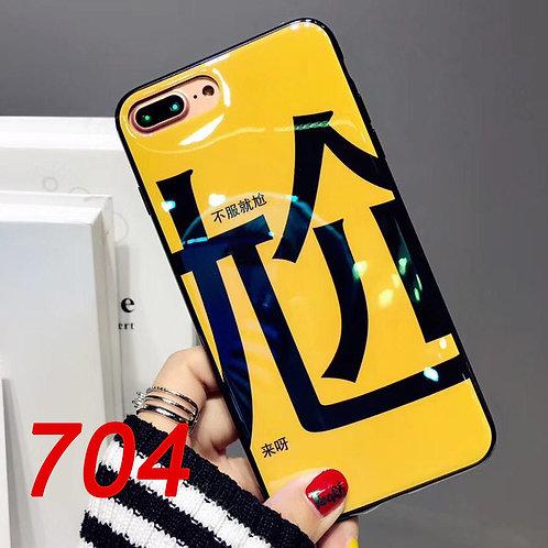 iPhone 6/7/8/plus/X gloss oil pattern soft tpu case 704/705