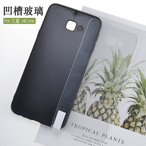 Printable tempered glass phone case for galaxy J4 core