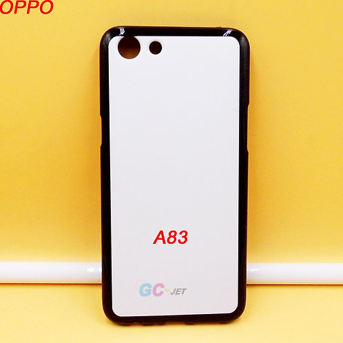 OPPO A83 tpu phone case soft printable black side white back