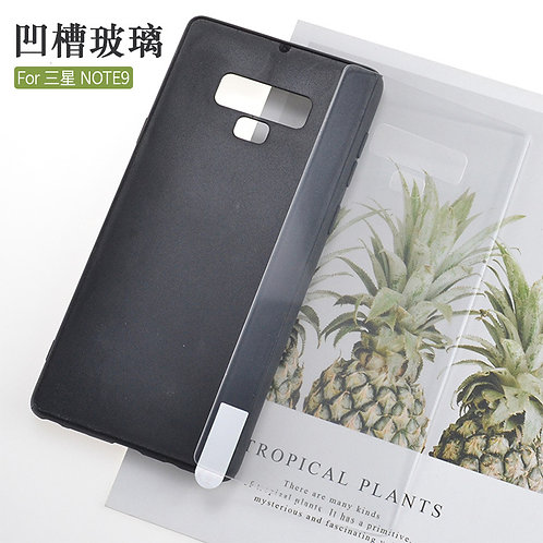 blank printable tempered glass mobile case for Samsung galaxy note 9