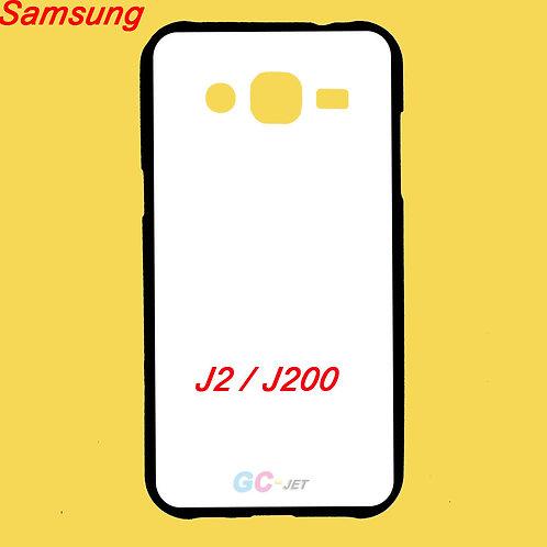 Galaxy J2 / j200 printable soft tpu phone case with white coating