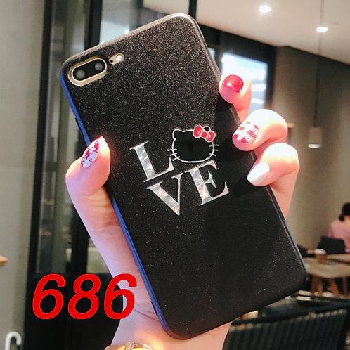 iPhone flash pattern tpu case 686 687