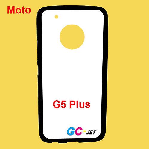 Moto G5 Plus back tpu soft phone case with white coated surface