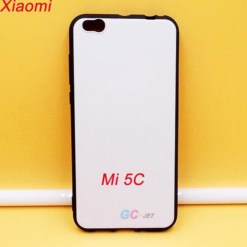 Xiaomi Mi 5C blank printable soft tpu phone case black side white coated back
