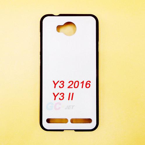 Huawei Y3 2016 / Y3 II black soft tpu phone case printable blank