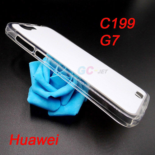 Huawei G7 / C199 transparent soft tpu mobile cover for printing