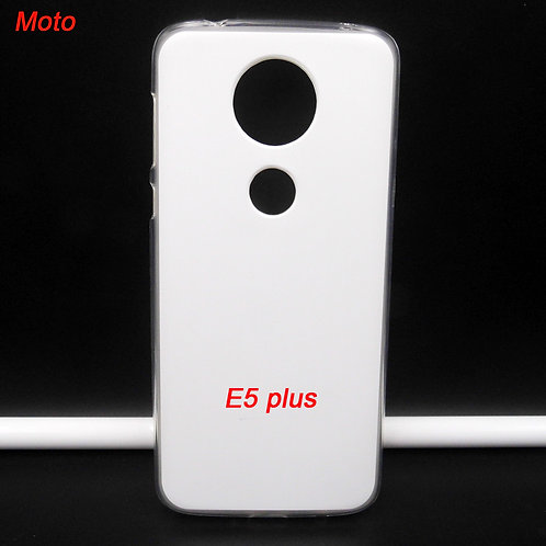 Moto E5 plus transparent printable tpu soft cell phone case
