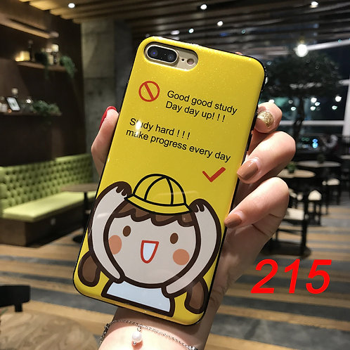 iPhone shimmering powder soft tpu case 215