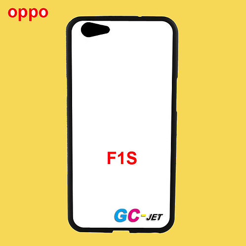 OPPO F1S black side soft tpu phone case with white printable back