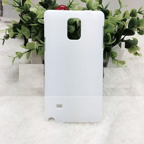 Galaxy Note 4 white plastic phone cover for 3d sublimation heat transfer picture