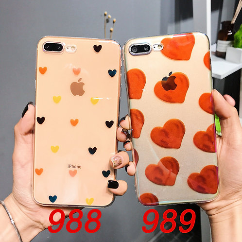 iPhone 6/7/X tpu soft case with laser pattern 988 989