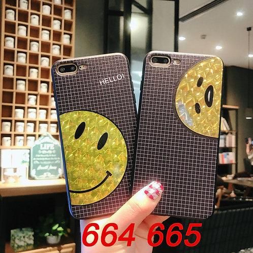 iPhone flash pattern tpu case 664 665