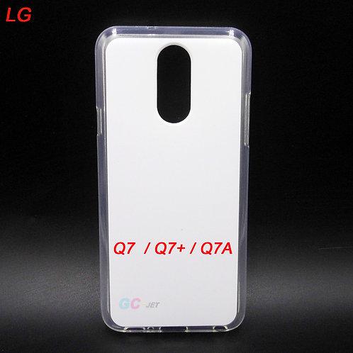 LG Q7 / Q7+ / Q7A flexible tpu phone case with printable white back