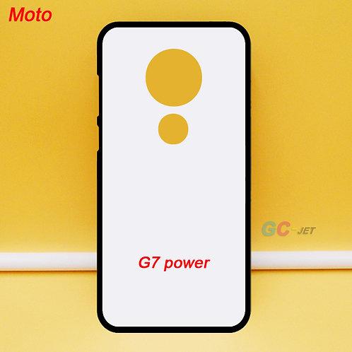 Moto G7 power soft tpu phone case ,printable ,blank with white coated back