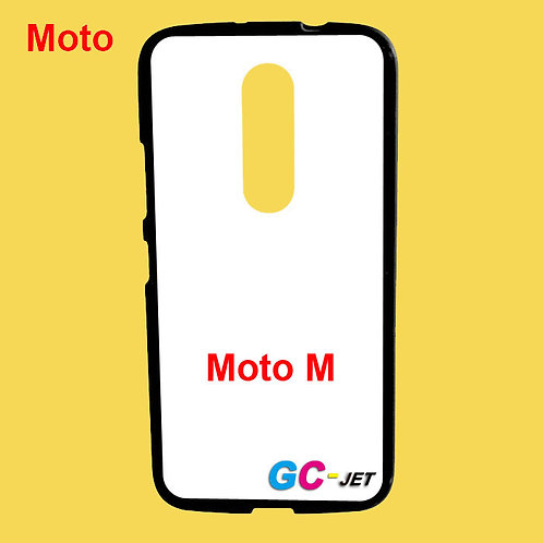 Moto M black edge and white printable back tpu soft phone case