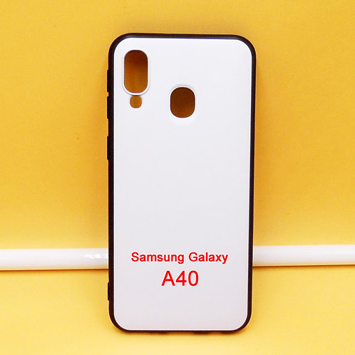 Galaxy A40 soft TPU phone case,with white back for printing